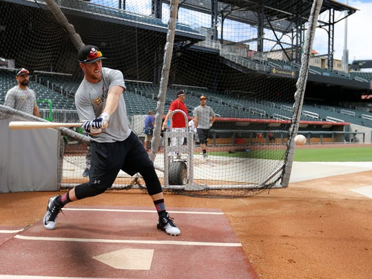 Members of the El Paso Chihuahuas took batting practice Monday afternoon as they prepared for the next round of playoffs against Oklahoma City Dodgers which begin tonight at Southwest University Park with the first pitch scheduled for 6:35 p.m. for the first of two home games before the action switches to Oklahoma.
