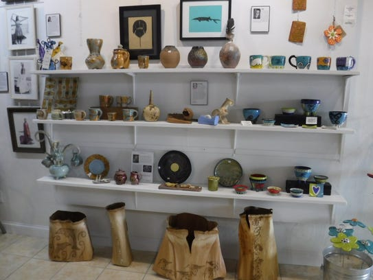 Pottery, paintings, photographs and other art forms