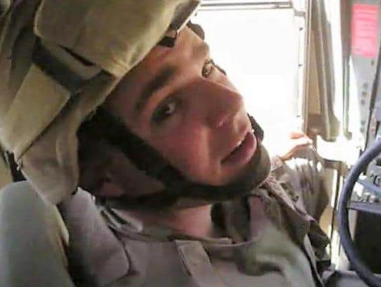 Trey Vocker while deployed