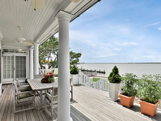 Take in a scenic view from the deck of this home.