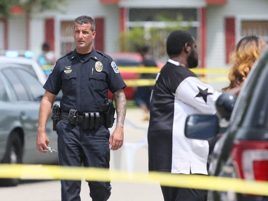 Scenes from a fatal shooting Sunday in the Habitat Beecher Village neighborhood of Fort Myers. Two men were shot. Dunbar High School student Lawerence Lockley, 17, was killed and the other victim went to Lee Memorial Hospital and his condition is unknown at this time.