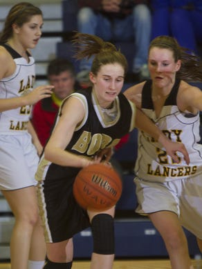 By the Tim Kelly Hughes' career at Point Boro was over in 2013, she was the all-time leading scorer in Shore Conference history with 2,534 points.th ball. St. John Vianney vs Point Pleasant Boro Girls Shore Conference Basketball Semifinal - Peter Ackerman/Staff Photographer - 02/19/03 - gbbsjpb130219d