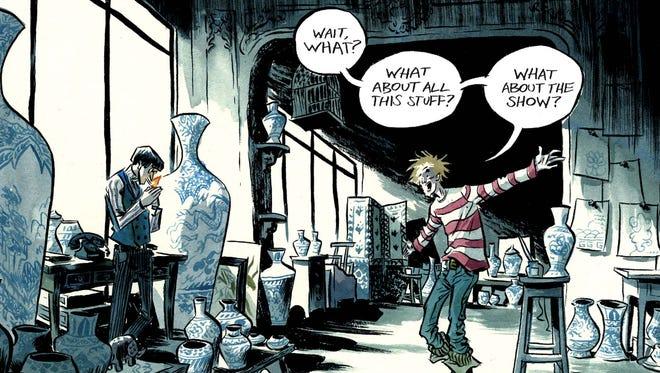 """Fabio Moon contributes a story in the """"Cyan"""" issue of Vertigo Comics' """"Vertigo Quarterly: CMYK"""" anthology series."""