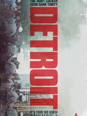 """The movie poster for """"Detroit,"""" which hits theaters Aug. 4."""