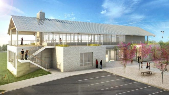 Schematic drawing of Egg Harbor Library Community Center.