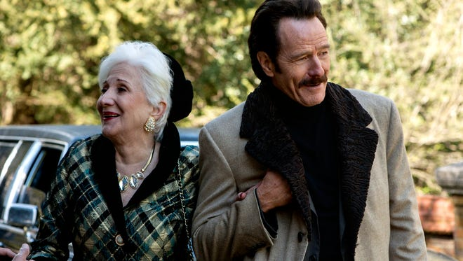 """Olympia Dukakis shows up in """"The Infiltrator"""" as the flashy aunt of Robert (Bryan Cranston). Why? We're not sure."""