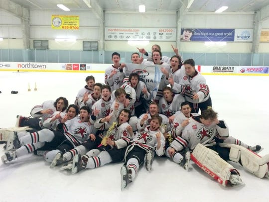 Members of the Syracuse Stars 16U team pose with their