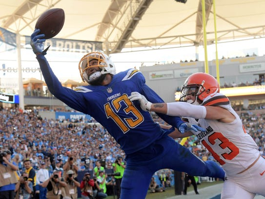 In his last three games, Chargers wide receiver Keenan