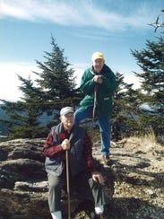 Joe Hemphill, front, and Robert Goodson at the peak