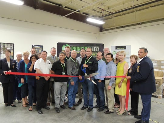 Local dignitaries joined the Concho Cadre during the grand opening of Principal LED's new location at 3490 Venture Drive in San Angelo on Aug. 17. The business, owned by brothers Bryan and Blake Vincent, opened in 2015.