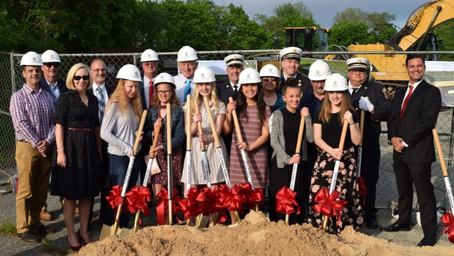 Milltown Borough broke ground on its new public works and utilities complex and firehouse.