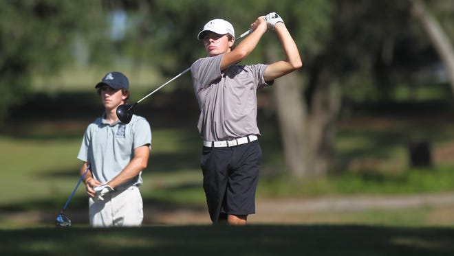 Chiles junior Hayden Smith, seen here at last year's city championship at Hilaman Golf Course, shot a 7-under par 29 to win the rain-shortened, nine-hole Miracle Strip Invitational in Fort Walton.