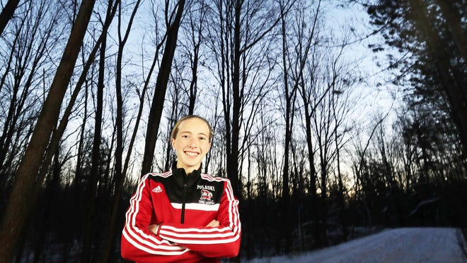 Pulaski's Annika Linzmeier, photographed at the Brown County Reforestation Camp in Suamico, is the Green Bay Press-Gazette girls cross-country runner of the year.