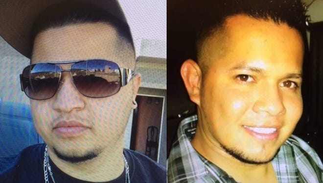 From left, Jorge Luis Zendejas-Cano, 29, and Miguel Zendejas-Cano, 31. The men are suspects in a Saturday morning homicide at an Appleton home.