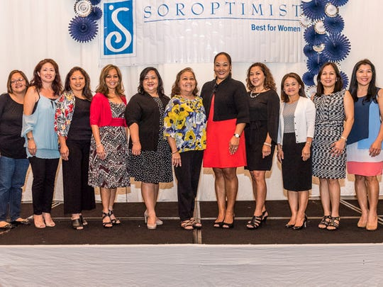The 13th Annual Soroptimist International of the Marianas' Christmas Sunday Brunch Fundraiser was held Dec. 10 at the Sheraton Laguna Guam Ballroom. Soroptimists is a global volunteer organization working to improve the lives of women and girls through programs leading to social and economic empowerment. The brunch proceeds fund grants, scholarships and awards for Guam's women and girls. Pictured from left: Lani Rosario, Past President and Chairperson Kristal Koga, Past President Denise Mendiola, Past President Caroline Sablan, Secretary Maria Fe Regis-Malaca, Immediate Past President Loling Field, President elect Jessica Castro, Diane Prejean, Treasurer Joy Orot, Emily Hernandez, Past President Erlinda Alegre, Angie Gibbons. Missing President Carmela Rapadas