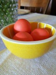 Greek-Orthodox Christians play a religiously significant game of tsougrisma at Easter, in which red-dyed eggs are cracked to represent the Resurrection.