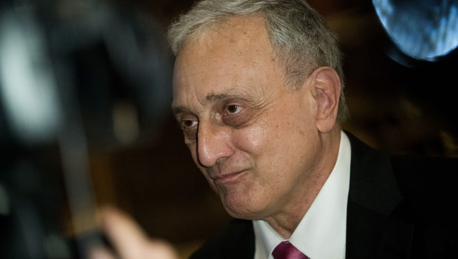 Carl Paladino, former New York gubernatorial candidate, speaks to reporters in the lobby at Trump Tower, Dec. 5, 2016 in New York City.