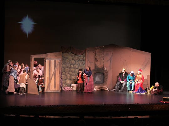 "The set for ""Amahl and the Night Visitors,"" staged"