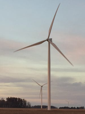 The Headwaters Wind Farm in Randolph County, Ind.