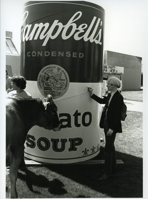Andy Warhol signed the three soup cans during his visit to CSU in September 1981.