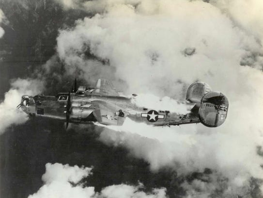 """Known as """"roman candle incidents,"""" the B-24 had a tendency"""