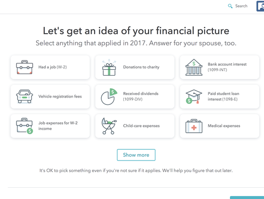 TurboTax takes customers through the tax-prep process