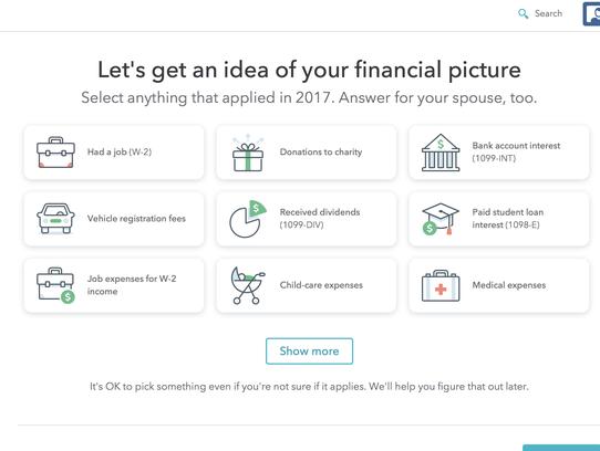 TurboTax takes customers through the tax-prep process