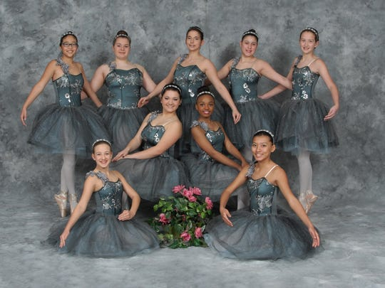 Royal corps de ballet from the Fontenot Dance Theatre Conservatory. Seated: Emily Briley, Toni Fontenot, Morgan Francis and Anna McKinney. Standing: Nyah Lynch, Blythe Devillier, Brandi McLendon, Kylie Nugyen and Lexi Leger.