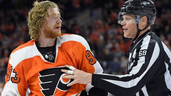 Jake Voracek has two assists in six games since returning from a left foot injury.