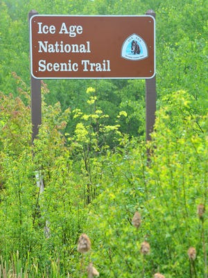 The Ice Age National Scenic Trail is a walking path that bisects Wisconsin.