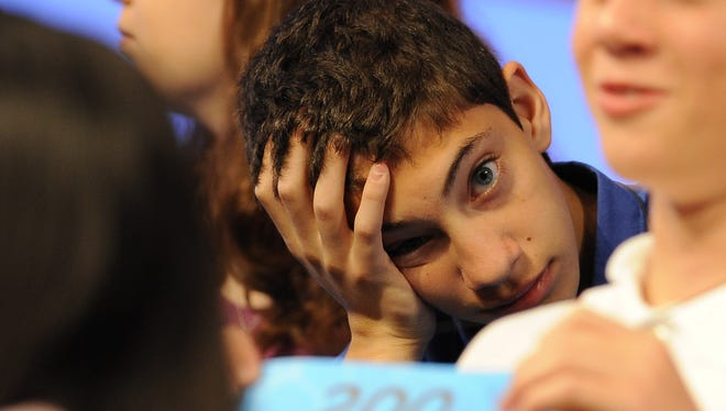 Samuel Pereles during round 5 semifinals 2015 Scripps National Spelling Bee at National Harbor, Md., on Thursday, May 28, 2015. --    Photo by Evan Eile, USA TODAY staff
