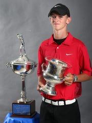 Blackman junior golfer Tanner Owens