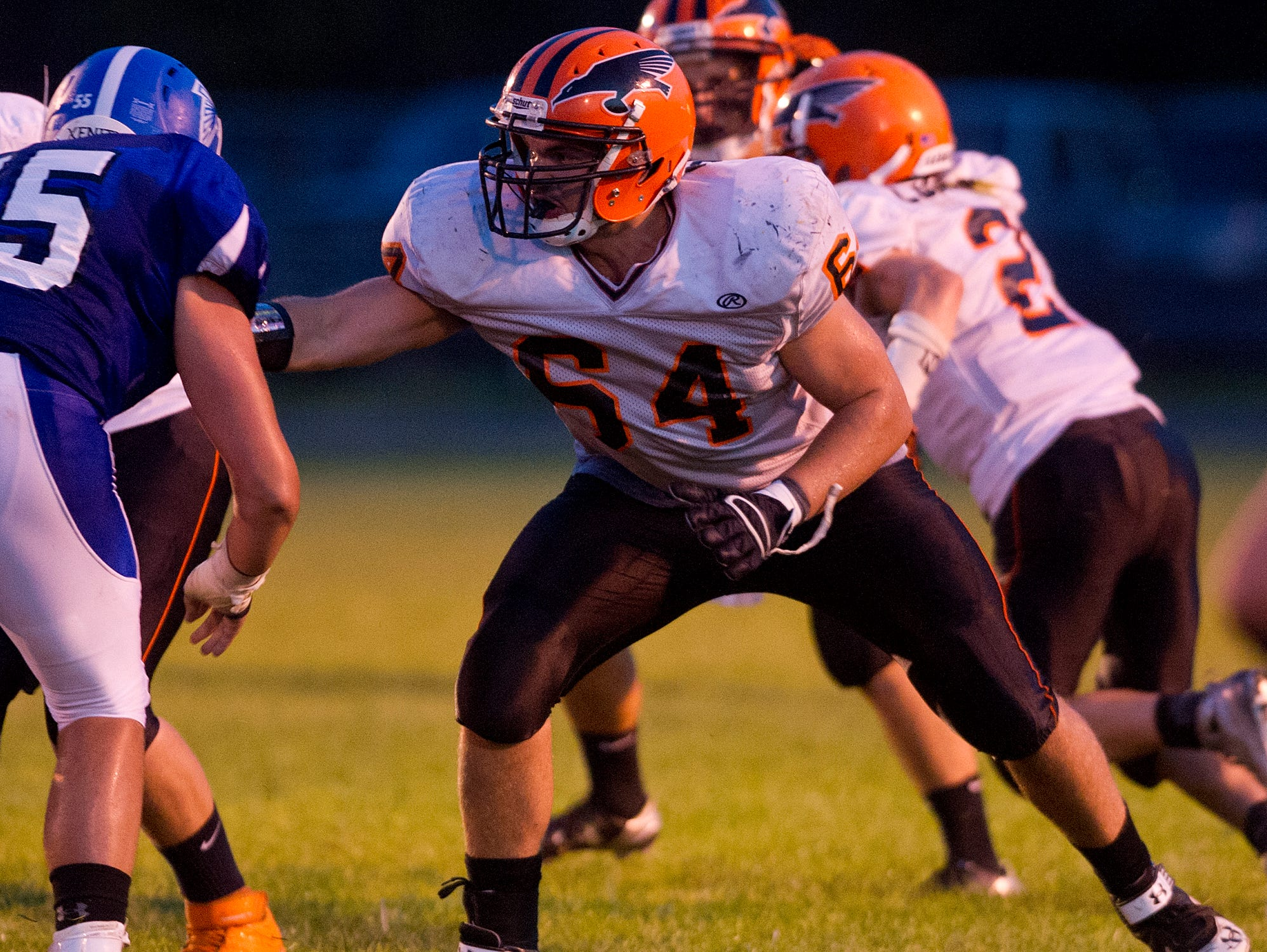 Iola-Scandinavia's Ryan Bauer during the Central Wisconsin Conference football game against Amherst, Sept. 4.