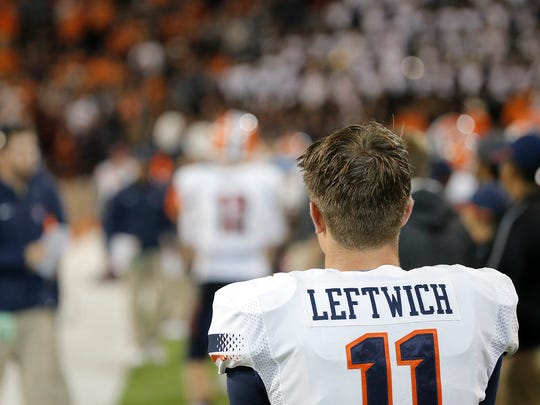 Former UTEP quarterback Mark Leftwich is now an offensive