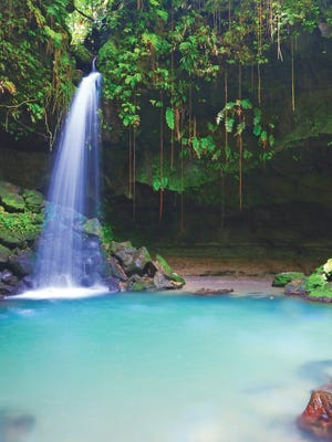 Waterfall on the island of Dominica