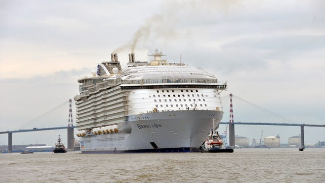 Royal Caribbean's soon-to-debut Harmony of the Seas heads to sea on March 10 for a series of sea trials.