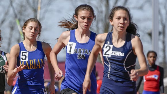 McConnellsburg's McKenzie Gelvin, second from the right, holds three top seeds heading into the District 5 Track & Field Championships on Thursday. Her seed times in the 400 and the 800 are faster than the district records.