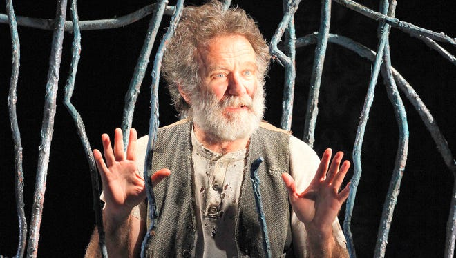 """Robin Williams in """"Bengal Tiger at the Baghdad Zoo,"""" at the Richard Rodgers Theatre in New York in 2011."""