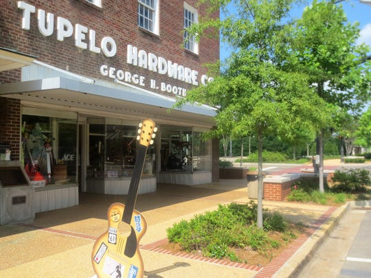 Tupelo Hardware Co. in the heart of the city's historic district. An 11-year-old Elvis got his first guitar here.