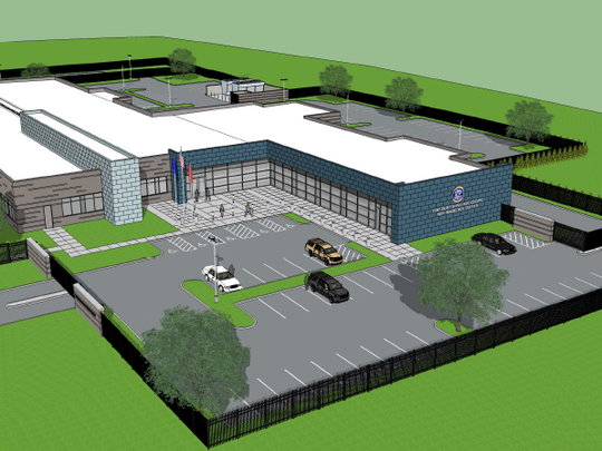 An artist's rendering of how the crime lab will look