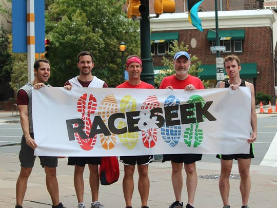 Race & Seek comes to Mass Ave in May. It calls itself the greatest urban scavenger race on the planet. Shown here are the winners of the Philadelphia race.