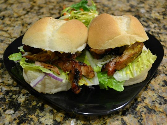 Teriyaki Chicken Sliders from the Island Loco food