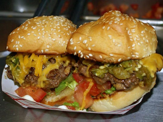 Green chili sliders from the Green Chile Grill food