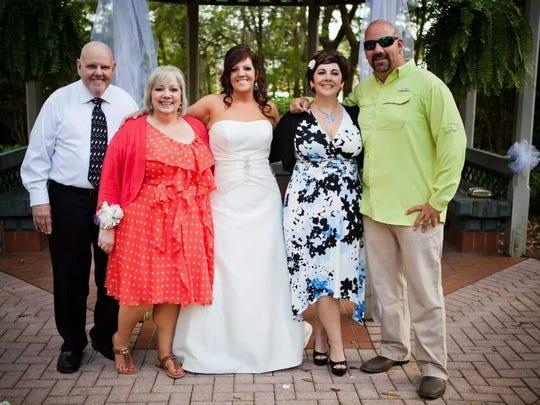 The Mahoney family from left to right: John Mahoney, his wife of 41 years, Beck Mahoney, Kelly Rogers, Lisa Denton and Ross Mahoney.