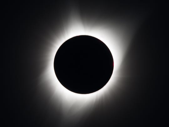 A total solar eclipse is seen on Monday, August 21,