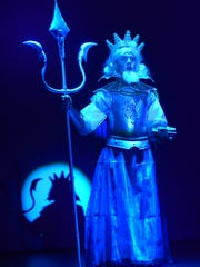 Triton is played by Carter Bowman during a dress rehearsal