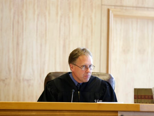 Wood County Circuit Judge Todd Wolf during the trial