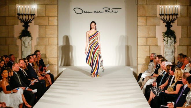 Inspired by the brand's origins, Oscar de la Renta's Spring 2020 collection tapped into the Dominican Republic. The pieces were showcased for Hospice's annual event on Jan. 16.