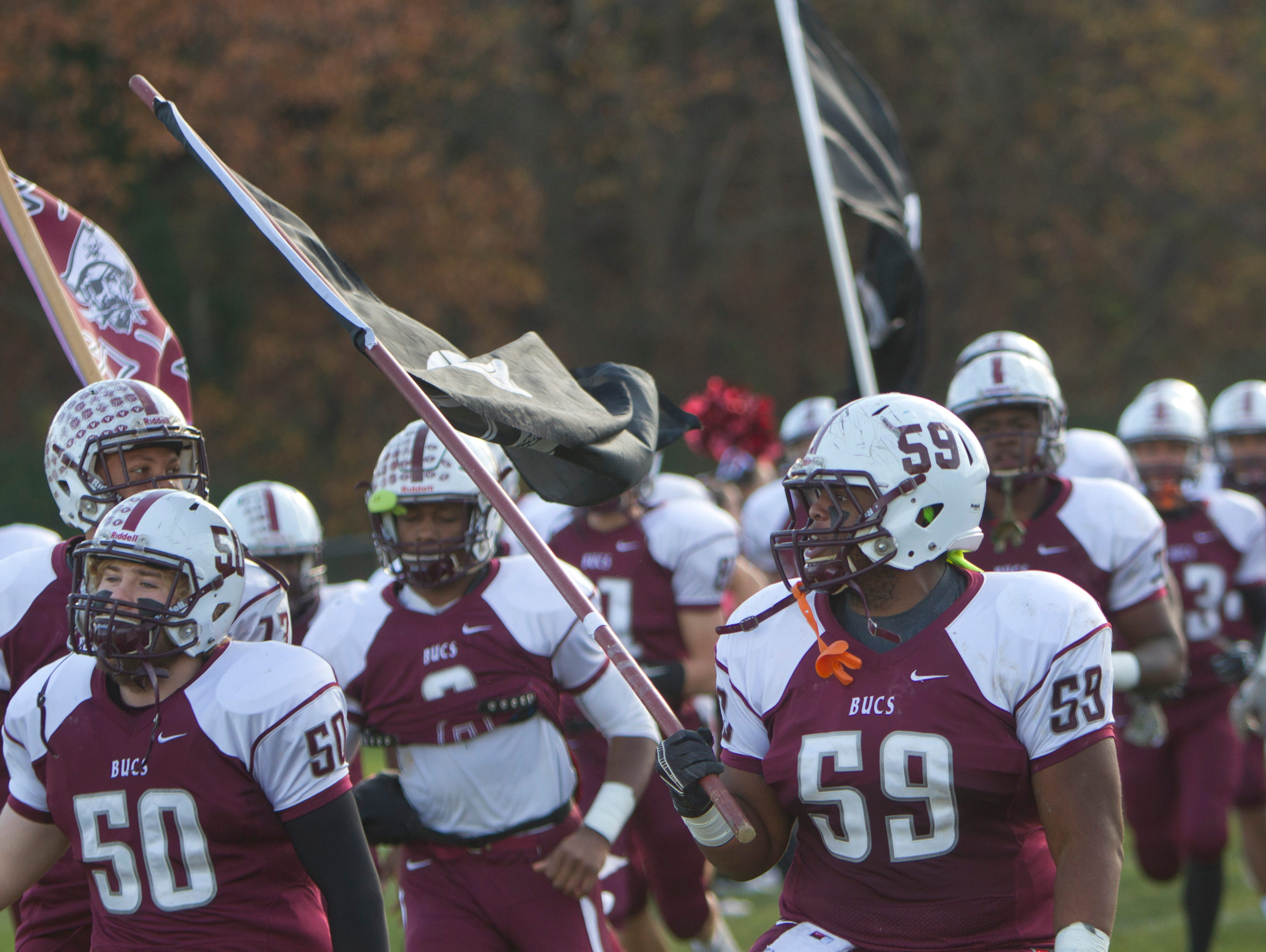 Long Branch vs Red Bank Regional Thanksgiving Day Football game in Red Bank NJ on November 26, 2015.