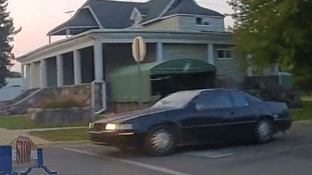 The Michigan State Police released a snapshot of dash-cam footage of the Cadillac Eldorado being sought in connection with fleeing/eluding police Tuesday night in the city of Hillsdale.